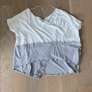 Grey and white free people flowy top